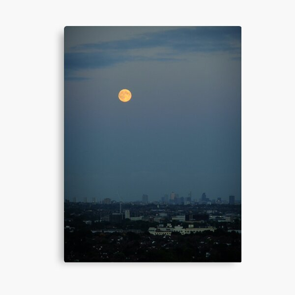 Moon over the City Canvas Print