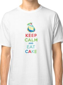 Keep Calm and Eat Cake - on white Classic T-Shirt
