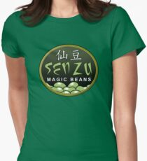 Magic beans Womens Fitted T-Shirt