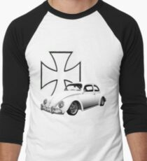 Iron Cross VW Bug Men's Baseball ¾ T-Shirt