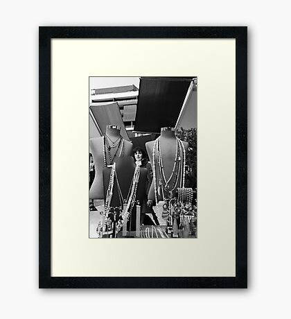 people popping up everywhere! Framed Print
