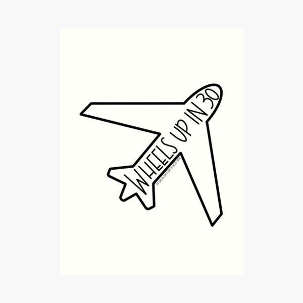 """Wheels Up in 30"" Airplane- Criminal Minds Art Print"