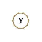 Vintages Monogramm des Buchstabe-Y von Alexander Nedviga
