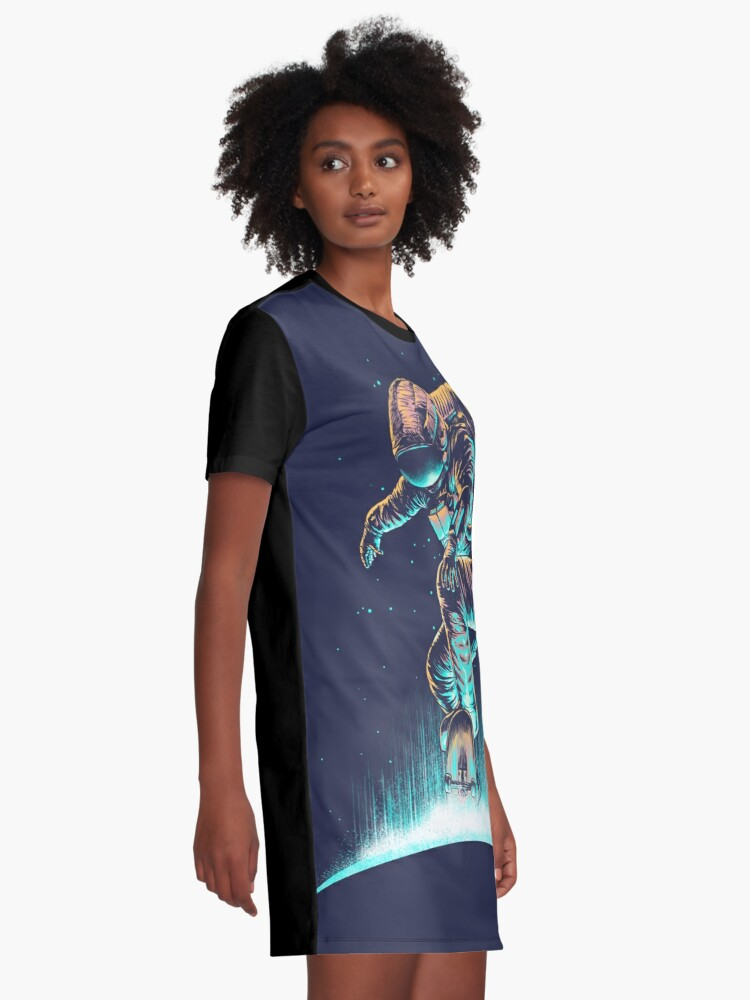 Alternate view of Space Grind Graphic T-Shirt Dress