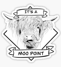Highland Cow - Moo Point Sticker