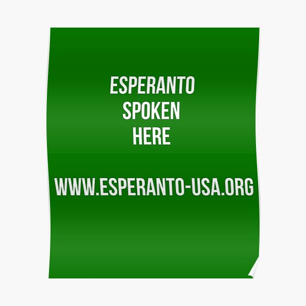 Esperanto Spoken Here Poster