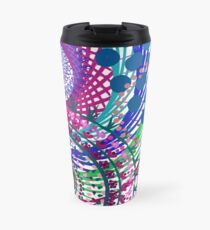 Northern Lights Fireworks mandala Travel Mug