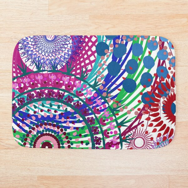 Northern Lights Fireworks mandala Bath Mat