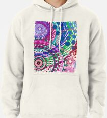 Northern Lights Fireworks mandala Pullover Hoodie