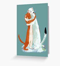 Weasel hugs Tarjeta de felicitación