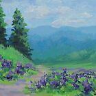 «Refrescante - pintura de paisaje pequeño» de Karen Ilari