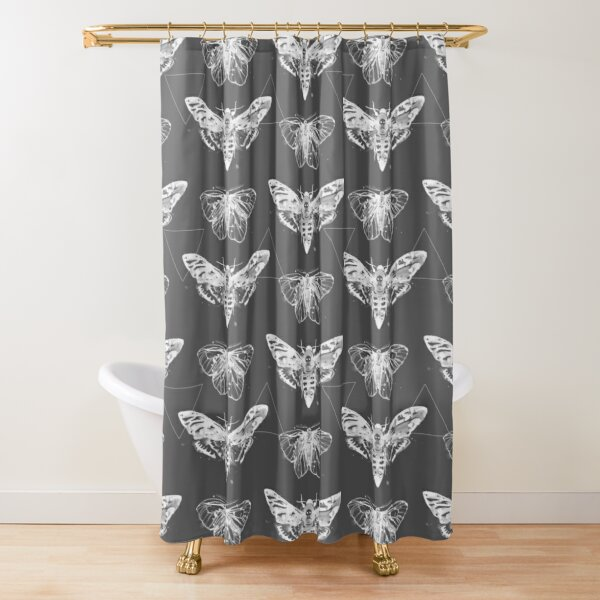 Geometric Moths - inverted Shower Curtain