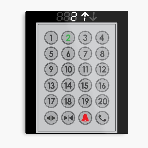 Elevator Mechanic Number Pad Metal Print