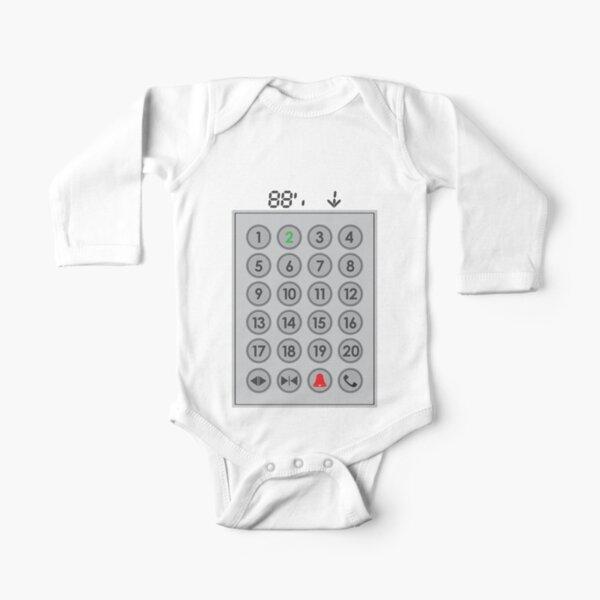 Elevator Mechanic Number Pad Long Sleeve Baby One-Piece