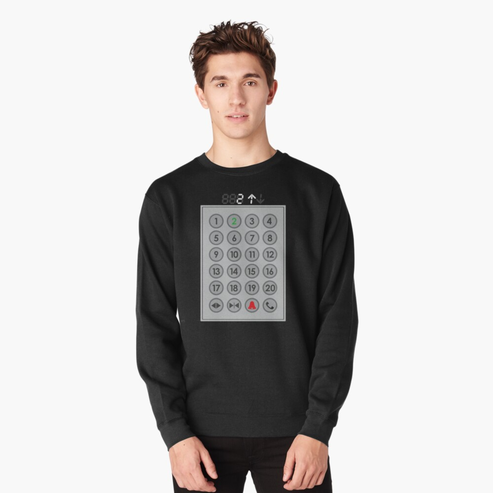 Elevator Mechanic Number Pad Pullover Sweatshirt