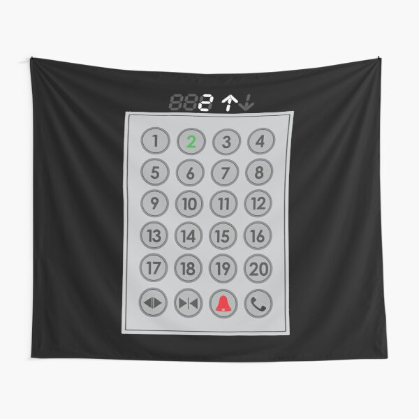 Elevator Mechanic Number Pad Tapestry