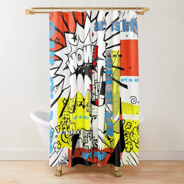 Art is life Shower Curtain