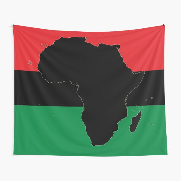 Symbol of Africa - Pan African Flag Tapestry