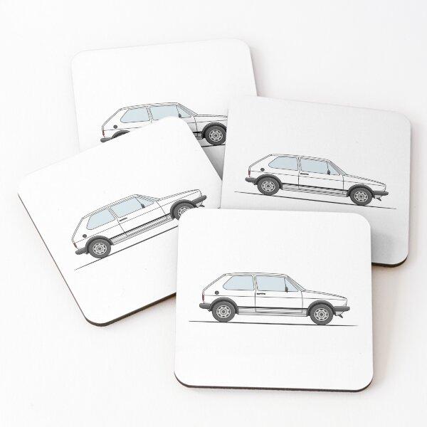 Golf GTI Mk1 - White Coasters (Set of 4)