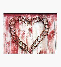 Horseshoe Heart Photographic Print
