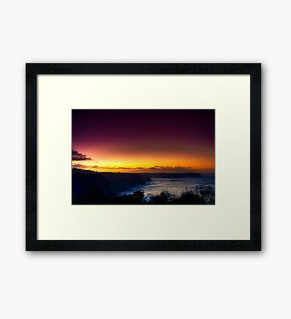Dawn at Bushrangers Bay Framed Print