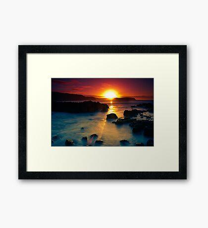 Sunrise at Bushrangers Bay Framed Print