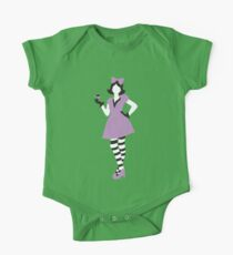 Alice in wonderland in purple with a teacup Kids Clothes