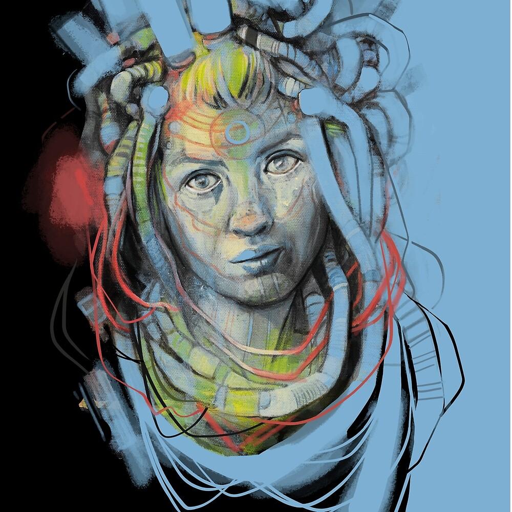 Cyber Lady - Sci-fi by Doug Forbes