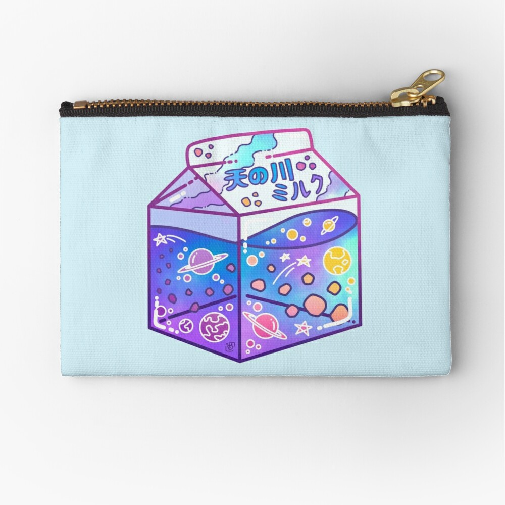 Milky Way Milk Carton Zipper Pouch