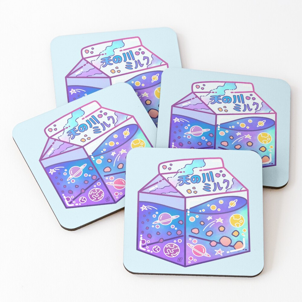 Milky Way Milk Carton Coasters (Set of 4)