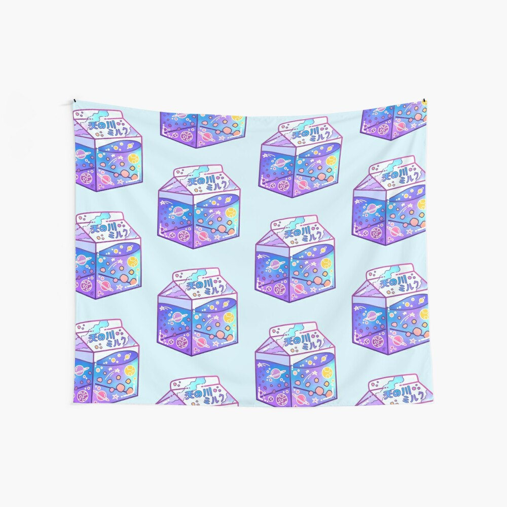 Milky Way Milk Carton Wall Tapestry