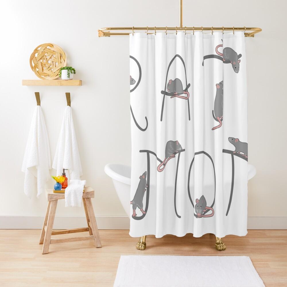 Rat Mom Shower Curtain