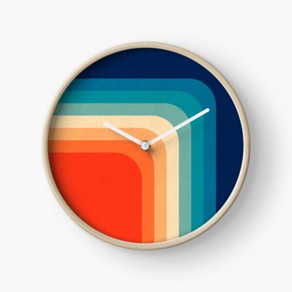 Palette de couleurs rétro des années 70 III Horloge