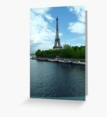 Eiffel Tower & The Seine. Greeting Card