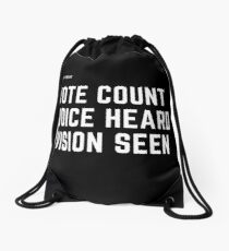 Be Known Drawstring Bag