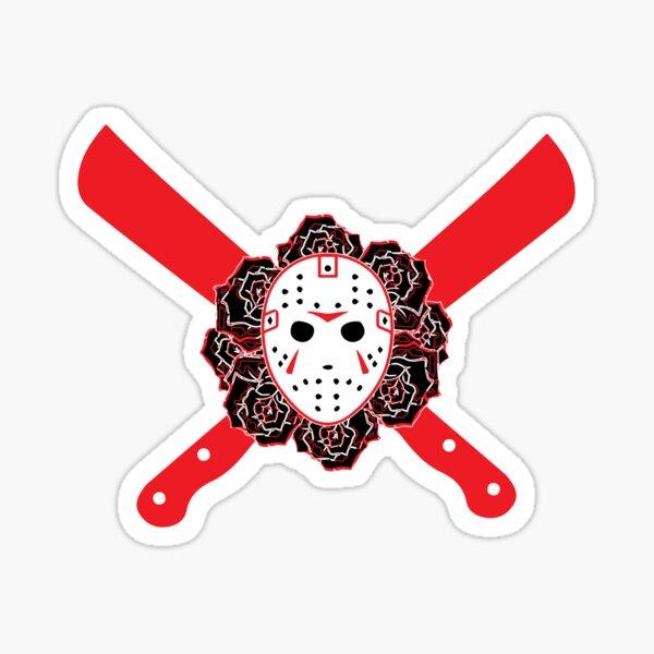 jason friday RED machetes Sticker