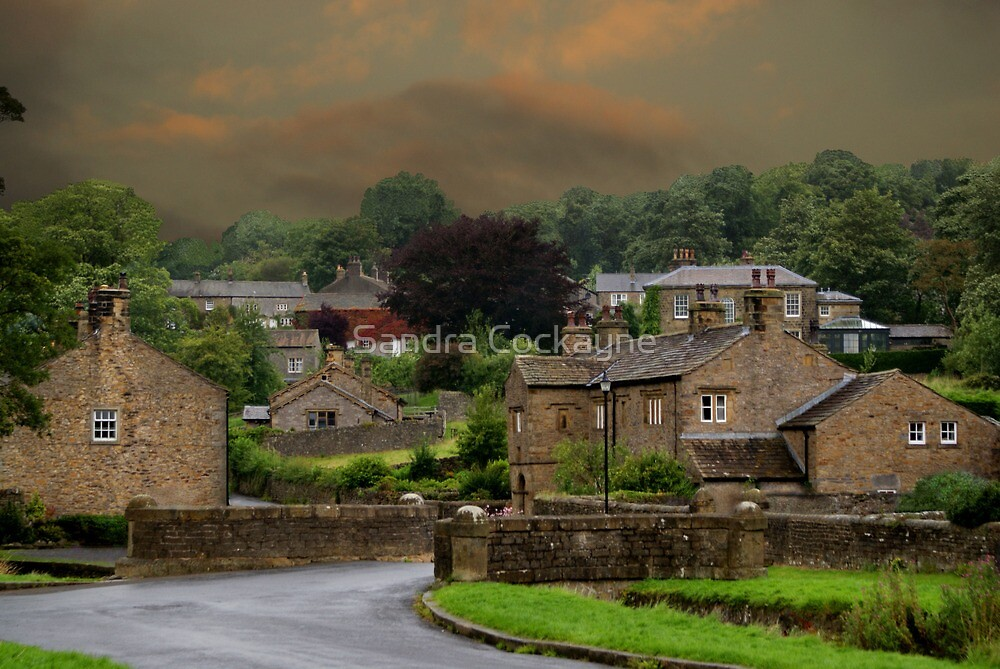 Downham Village, Lancashire by Sandra Cockayne