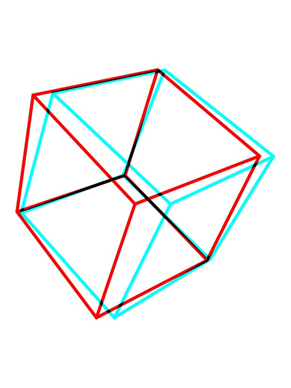 Quot 3d Red Cyan Cube Quot Stickers By Imart1n Redbubble