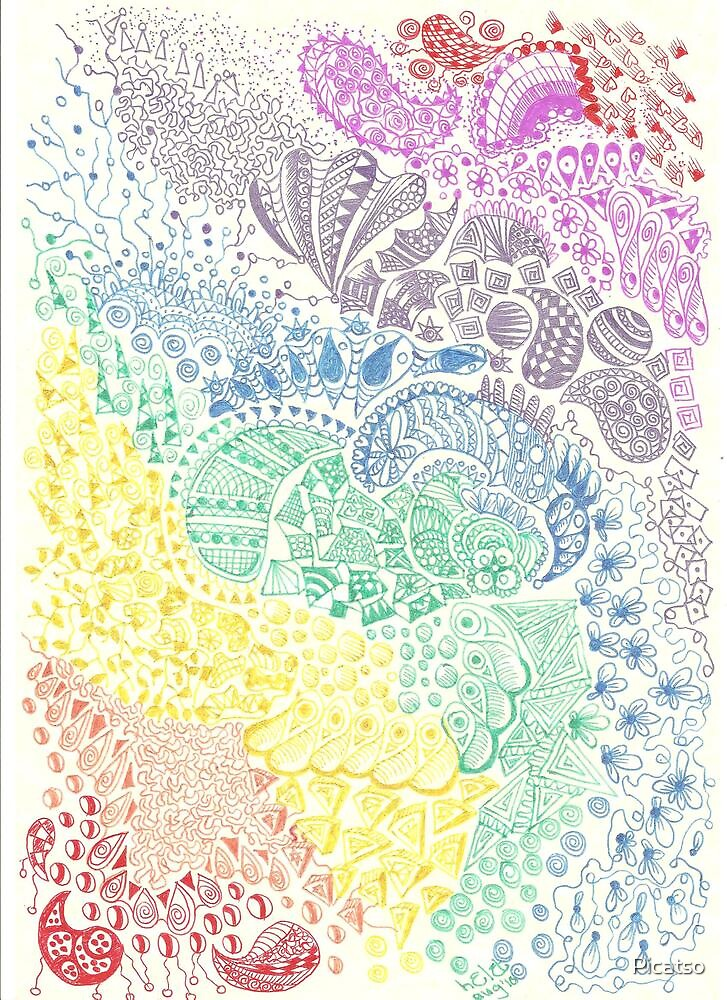 Rainbow Doodle by Picatso