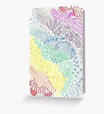 Rainbow Doodle Greeting Card
