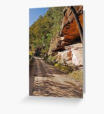 Along the River Road Greeting Card