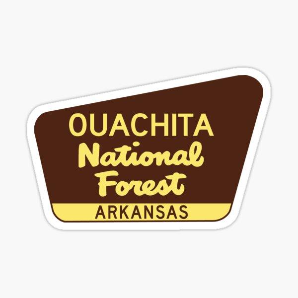 Ouachita National Forest Arkansas Oklahoma Sticker