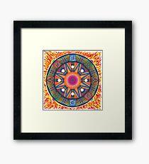 Dharma wheel 2 Framed Print