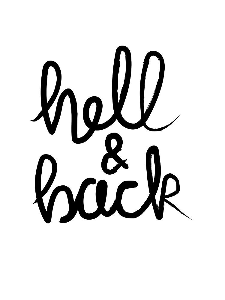 Hell & Back (black) by Katharine Sheppard