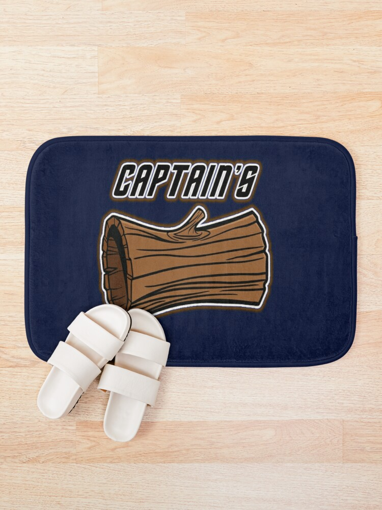 Alternate view of STAR TREK CAPTAINS LOG DESIGN -star trek rb partner program Bath Mat