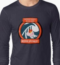 Burning Babies in the Surf Rescue Specialist Long Sleeve T-Shirt