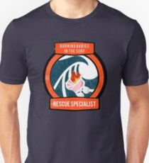 Burning Babies in the Surf Rescue Specialist Slim Fit T-Shirt