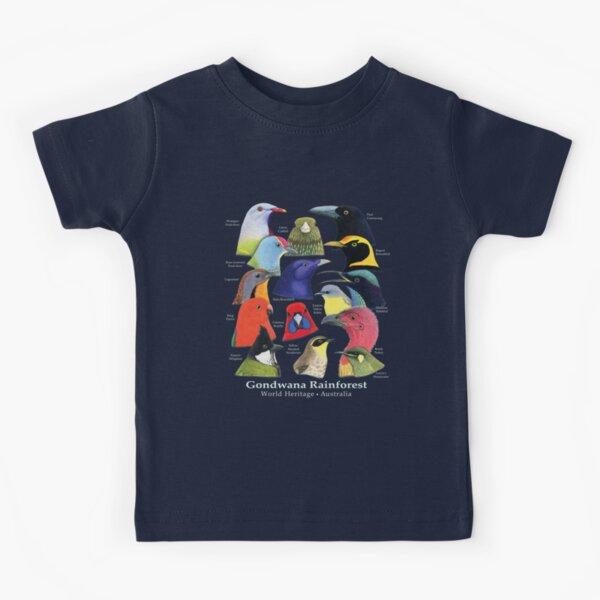Gondwana Rainforest Birds of Australia - Raising funds for BirdLife Australia Kids T-Shirt