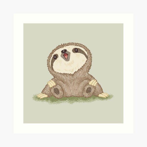 Happy Sloth Art Print