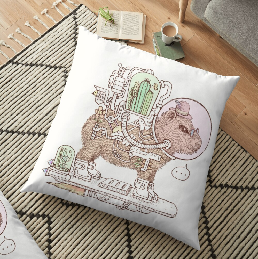 capybara space suits Floor Pillow